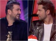 Los 'coaches' Antonio Orozco y David Bisbal en las segundas audiciones a ciegas del 'talent' musical de Antena 3 La Voz Senior