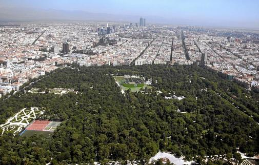 Panóramica de Madrid desde un avión.
