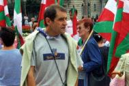 Josu Ternera, en una manifestación en Bilbao en 2002.