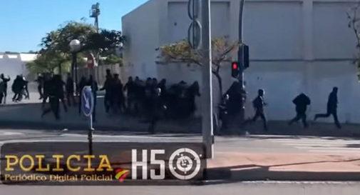 Incidentes ocurridos en noviembre del año pasado entre aficionados del Hércules y el Castellón que acabó con heridos y detenidos.