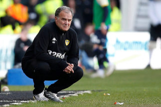 "Soccer Football - Championship Play-Off Semi Final First Leg - Derby County v Leeds United - Pride Park, Derby, Britain - May 11, 2019 Leeds United manager Marcelo <HIT>Bielsa</HIT> Action Images via Reuters/Craig Brough EDITORIAL USE ONLY. No use with unauthorized audio, video, data, fixture lists, club/league logos or ""live"" services. Online in-match use limited to 75 images, no video emulation. No use in betting, games or single club/league/player publications. Please contact your account representative for further details"