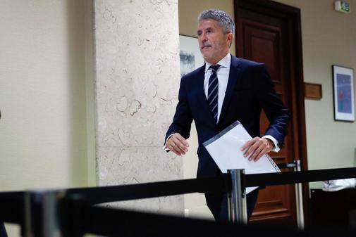 Fernando Grande-Marlaska, en el Congreso este jueves.
