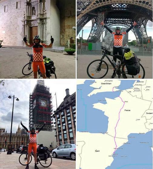 Burriana, París y Londres en bici: diez días de adrenalina y solidaridad