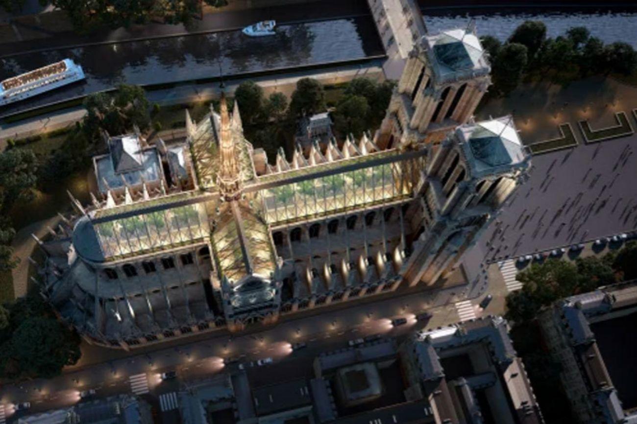 La firma de arquitectura ha propuesto elementos clásicos y contemporáneos para crear un espacio público en la cima de la catedral