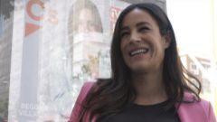 De campaña con Begoña Villacís a punto de dar a luz