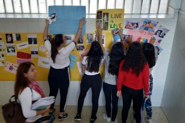 Los alumnos del Jaime II en una actividad.