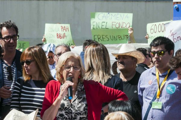 Protesta contra Manuela Carmena.