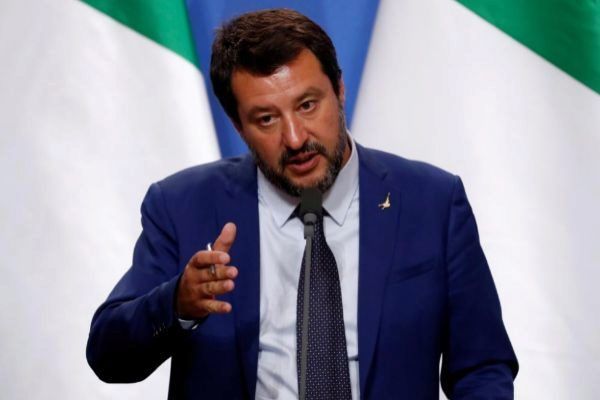 El vicepresidente del Gobierno italiano, Matteo Salvini, en Budapest.