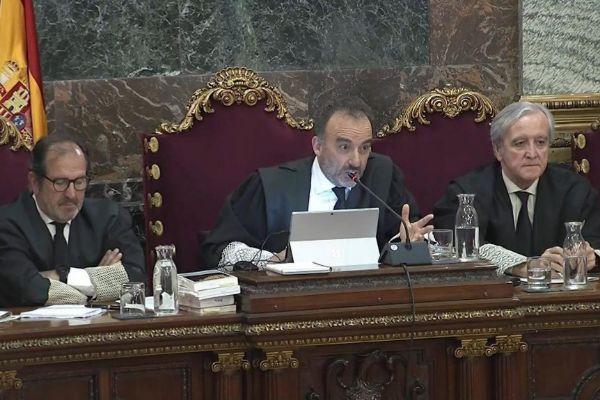 El juez Marchena, durante una de las sesiones del juicio del...