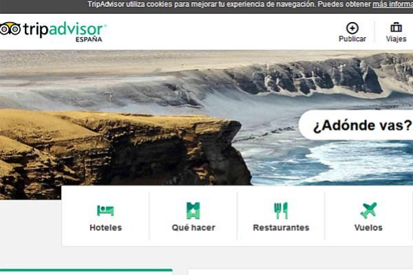 Captura de la página web de Tripadvisor