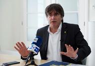 Carles Puigdemont, en una entrevista desde su residencia en Waterloo (Bélgica).