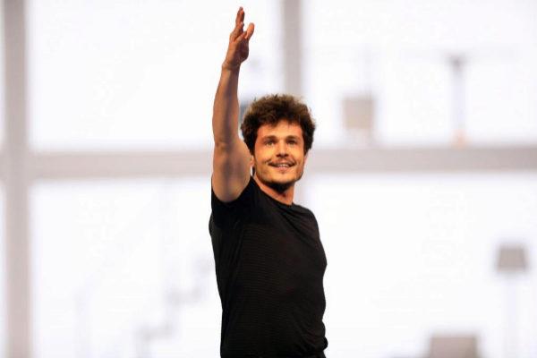 Miki, durante uno de los ensayos en Eurovisión.