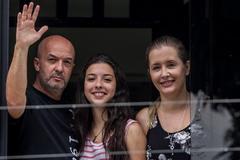 Iván Simonovis, su esposa Bonny y su hija Ivana, en una imagen de archivo.