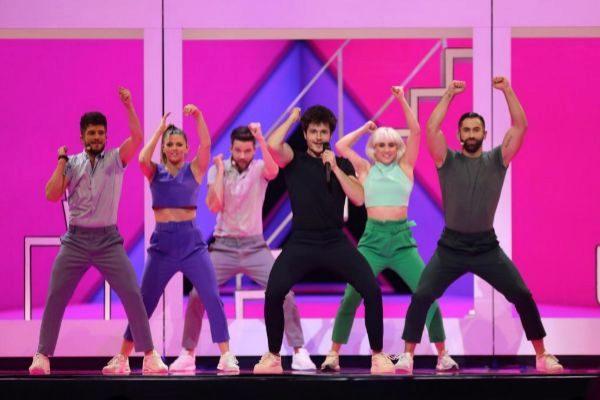Miki en los ensayos de Eurovisión 2019