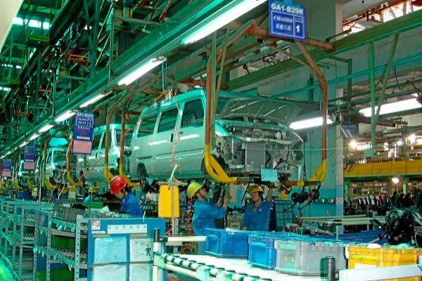 Planta de fabricación de vehículos de Saic-GM ubicada en China.