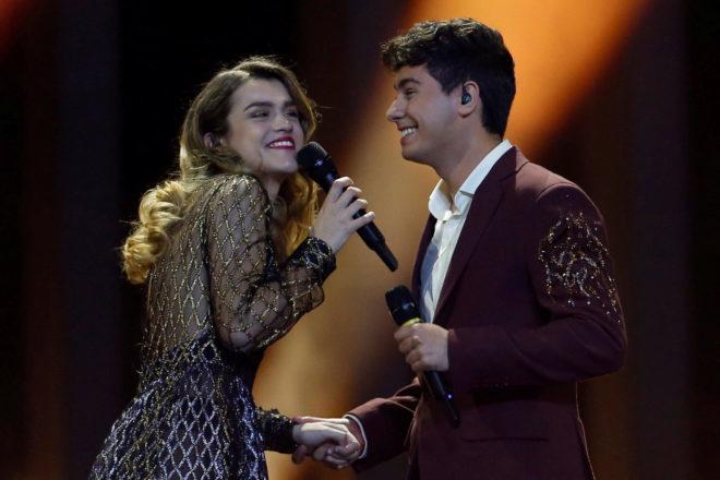 Amaia y Alfred, durante su actuación el pasado año en Eurovisión. La pareja acabó en el puesto 23 de las 26 participantes.