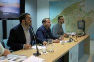 El conseller Vicenç Vidal durante la presentación de la ampliación del Parque de s'Albufera.