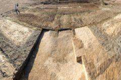 Detalle de la excavación donde se ha encontrado la fortaleza