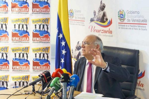 El embajador chavista en España, Mario Isea, en Madrid.