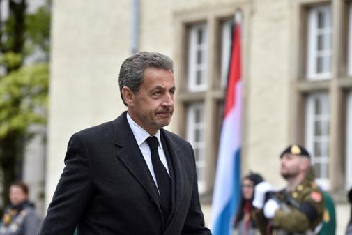 Nicolas Sarkozy, ex presidente de Francia, camina en la procesión fúnebre del Gran Duque Jean de Luxemburgo en Luxemburgo el 4 de mayo de 2019