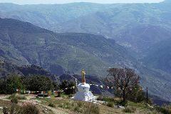Vista de la Alpujarra granadina desde O Sel Ling.