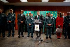El ministro de interior en funciones.Fernando Grande Marlaska.Visita al servicio de informacion de la Guardia Civil.Operacion Josu Ternera.