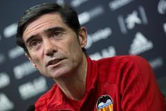 El entrenador del Valencia, Marcelino García Toral.