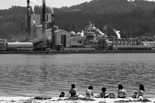 Imagen de archivo de la fábrica de Ence en la Ría de Pontevedra.