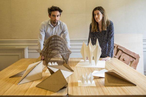 Pedro Rica y Marta Urtasun en su estudio de arquitectura.