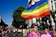 Una marcha LGBT en Madrid.
