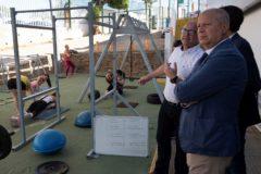 El consejero de Educación y Deportes, Javier Imbroda, durante una visita realizada esta semana a la Ciudad Deportiva de Huelva.