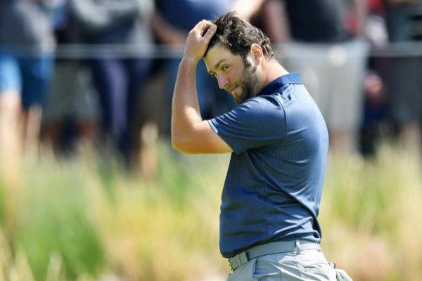Jon Rahm, durante el segundo recorrido en el PGA Championship.