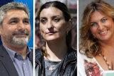 De izq. a derecha, Juan José Cortés (PP), Sara Giménez (C's), Beatriz Carrillo (PSOE) e Ismael Cortés (Podemos)