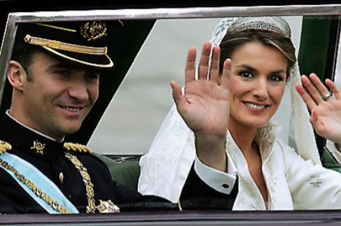 Los Reyes, el día de su boda