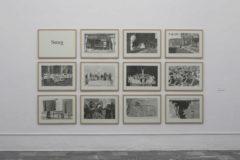 Algunas de las obras de Xisco Mensua que pueden verse en el Centre del Carme de Valencia.