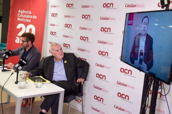 Momento de la rueda de prensa en la agencia ACN