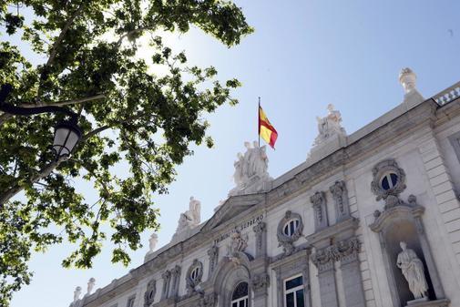 Fachada principal del Tribunal Supremo, en Madrid