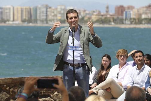 Pablo Casado, en un acto del PP en Málaga
