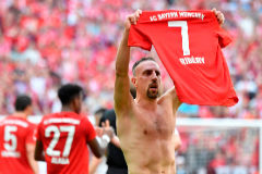 El Bayern gana su séptima liga consecutiva y despide a lo grande a Robben y Ribery