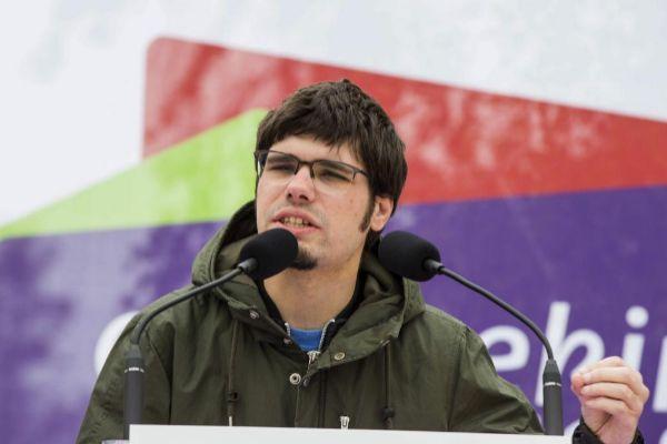 Lander Martínez, en el mitin de Vitoria.