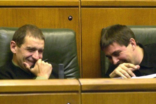 'Ternera' y Otegi, cuando compartían escaño en el Parlamento Vasco.