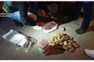 La droga incautada por la Guardia Civil.