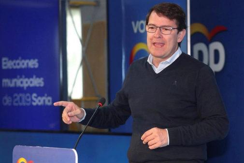 Alfonso Fernández Mañueco, en un acto del PP en Soria este sábado