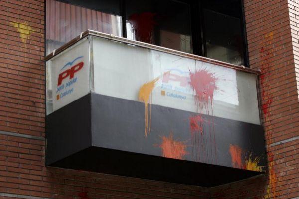 Ataque a una sede del PP en Gerona.