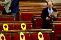 Miquel Iceta, durante el pleno de este jueves en el Parlament