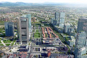 Recreación del proyecto Madrid Nuevo Norte.