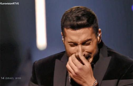 El representante de Israel en Eurovisión 2019, al finalizar su actuación.