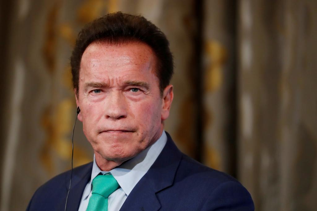 Arnold Schwarzenegger, durante una rueda de prensa en París.