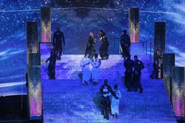 Madonna en la final de Eurovisión, en Tel Aviv.