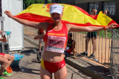 Julia Takacs, récord de España de 50 km. marcha